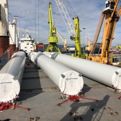 6 Wind Towers (12 pieces 54 & 43 tons each ) to Caribbean
